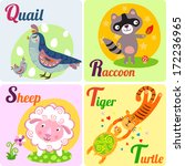 cute zoo alphabet in vector. q  ... | Shutterstock .eps vector #172236965