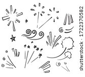 doodle vector collection of... | Shutterstock .eps vector #1722370582