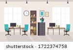 office workstation furniture... | Shutterstock .eps vector #1722374758