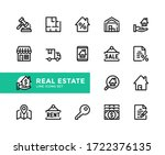 real estate vector line icons.... | Shutterstock .eps vector #1722376135