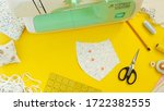 sewing medical mask at home... | Shutterstock . vector #1722382555