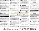 business template. title design ... | Shutterstock .eps vector #1722391075