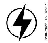 high voltage icon  danger...   Shutterstock .eps vector #1722406315