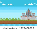 castle of knight on nature... | Shutterstock .eps vector #1722408625