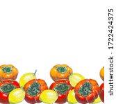 watercolor seamless horizontal... | Shutterstock . vector #1722424375