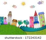 cartoon city | Shutterstock . vector #172243142