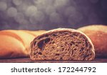 delicious bread on a wood table | Shutterstock . vector #172244792