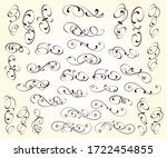 set of decorative elements for... | Shutterstock .eps vector #1722454855