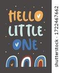 hello little one childish...   Shutterstock .eps vector #1722467662