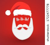 beard santa with red background ... | Shutterstock .eps vector #1722477778