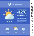 weather web forecast. mobile... | Shutterstock .eps vector #1722478915