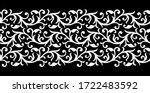 seamless black and white... | Shutterstock .eps vector #1722483592