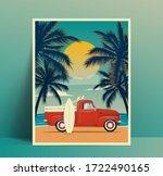 summer travel poster design... | Shutterstock .eps vector #1722490165