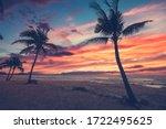 exotic tropical beach landscape ...   Shutterstock . vector #1722495625