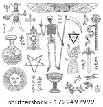 design set with black and white ...   Shutterstock .eps vector #1722497992
