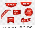 ribbon sale badges  banners ... | Shutterstock .eps vector #1722512545