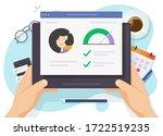 credit score rating report... | Shutterstock .eps vector #1722519235