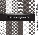 twelve seamless geometric... | Shutterstock .eps vector #172252016