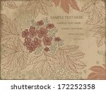 floral autumn branch on vintage ... | Shutterstock .eps vector #172252358