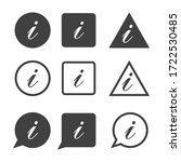 info icon set vector. contact... | Shutterstock .eps vector #1722530485