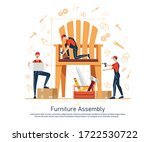 furniture assembly concept... | Shutterstock .eps vector #1722530722