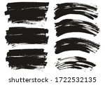 flat paint brush thin long  ... | Shutterstock .eps vector #1722532135