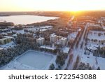 Linnanmaa Oulu Finland play ground aerial view drone