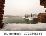 Adige River In Verona Downtown...