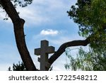 Christian Cross Isolated In...