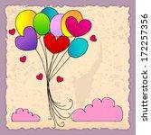 vector illustration of cute... | Shutterstock .eps vector #172257356