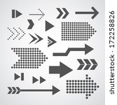 arrow set symbol on gray... | Shutterstock .eps vector #172258826
