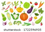 a large set of vegetables.... | Shutterstock .eps vector #1722596935
