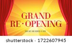 grand opening and re opening... | Shutterstock .eps vector #1722607945