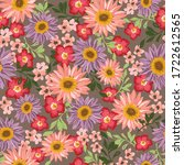 Seamless Pattern With Peach And ...