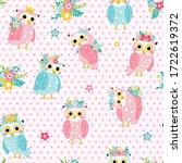 kids seamless vector pattern... | Shutterstock .eps vector #1722619372