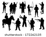 hunting set | Shutterstock .eps vector #172262135