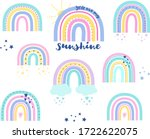 collection of vector rainbows... | Shutterstock .eps vector #1722622075