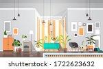 empty no people living room... | Shutterstock .eps vector #1722623632