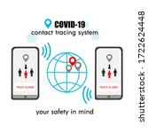 covid 19 contact tracing system ... | Shutterstock .eps vector #1722624448