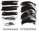 flat paint brush thin long  ... | Shutterstock .eps vector #1722625342