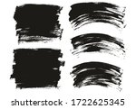 flat paint brush thin long  ... | Shutterstock .eps vector #1722625345