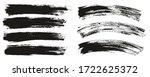 flat paint brush thin long  ... | Shutterstock .eps vector #1722625372