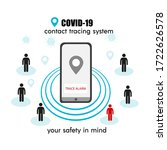 covid 19 contact tracing system ... | Shutterstock .eps vector #1722626578