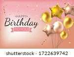 color glossy happy birthday...   Shutterstock .eps vector #1722639742