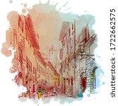 street panorama in san...   Shutterstock .eps vector #1722662575