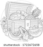fruit chest.pineapple ... | Shutterstock .eps vector #1722672658