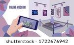 Online Museum Stock Vector...