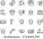 set of coronavirus icons  virus ... | Shutterstock .eps vector #1722691795