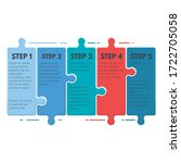 puzzle infographic business... | Shutterstock .eps vector #1722705058