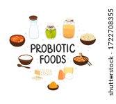 vector probiotic foods. best... | Shutterstock .eps vector #1722708355